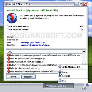 Click to view Anti-AD Guard 2.1.2.5 screenshot
